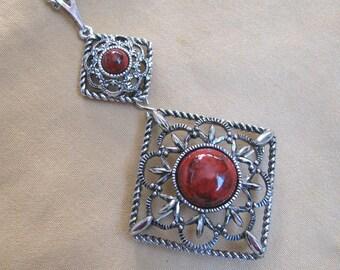 Sarah Coventry INCA FIRE Heirloom pendant necklace