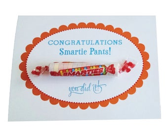 Smarties Pants Candy Congratulations Greeting Card