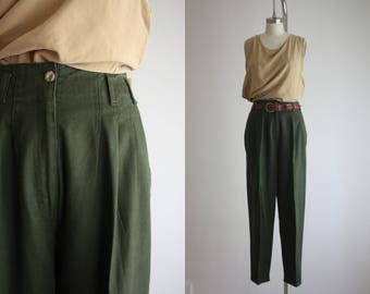 high waisted forestry trousers