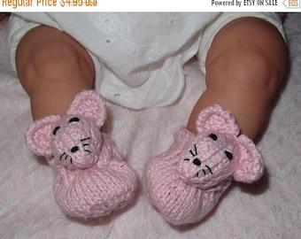 40% OFF SALE Digital file pdf download knitting pattern madmonkeyknits Baby Sugar Mouse Shoes pdf knitting pattern
