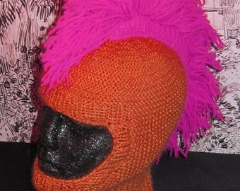 40% OFF SALE Instant Digital File pdf download madmonkeyknits knitting pattern-Punk Mohican Balaclava & Beanie Hat pdf knitting pattern