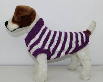 40% OFF SALE madmonkeyknits - Aran Stripe Dog Coat knitting pattern pdf download - Instant Digital File pdf knitting pattern
