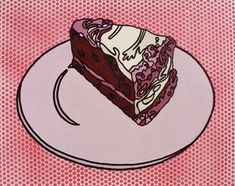 Pop Art Red Velvet Cake Painting