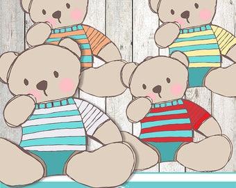 My teddy bear cliparts - COMMERCIAL USE OK