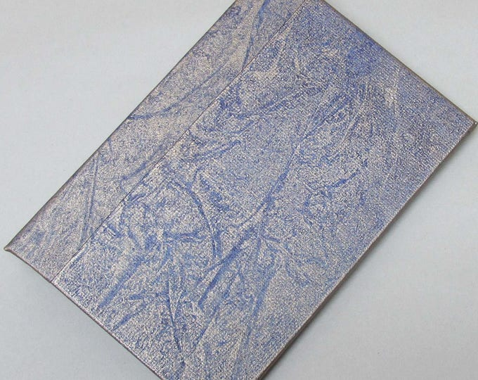 Refillable Journal Handmade Distressed gold Blue frost Original 6x4 traveller notebook