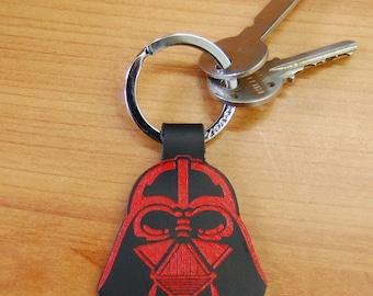 Leather Darth Vader Key Ring