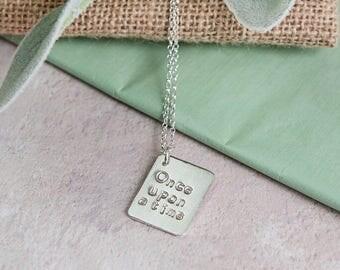 Vintage inspired story book necklace personalised  Heirloom, Alternative, Keepsake Necklace