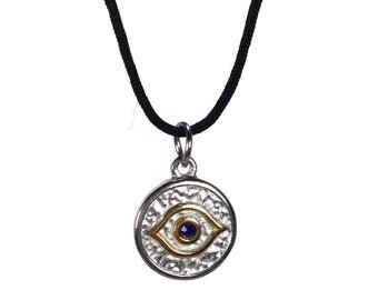 Evil eye necklace - handmade jewelry - stainless steel  - Greek jewelry - protection - Good luck - lucky eye