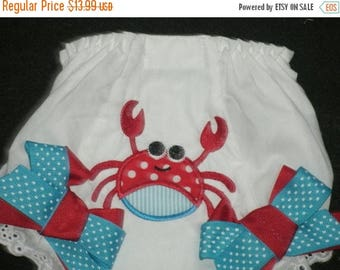 ON SALE Custom Crab Bloomers Diaper Cover PERSONALIZED