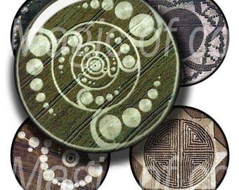 Crop Circle   - 63  1 Inch Circle JPG images - Digital  Collage Sheet