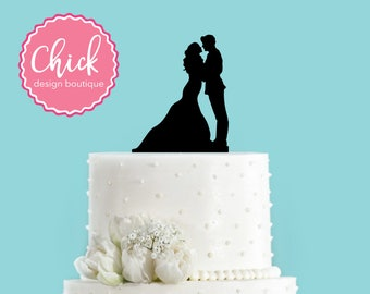 Army Groom and Bride Acrylic Wedding Cake Topper