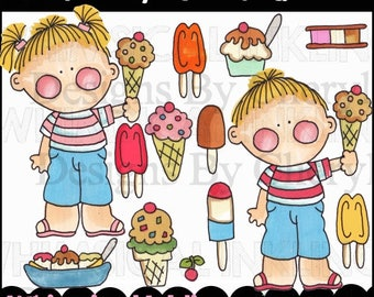 Yummy Ice Cream Clipart Collection- Immediate Download