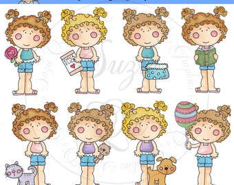Lovely Laura Everyday EXCLUSIVE Clipart Collection - Immediate Download