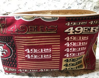 Custom Made 49er Make-Up Bag
