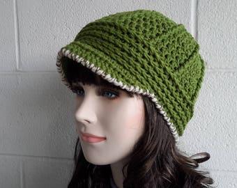 Newsboy womens visor hat Crochet Hat Buckle Beanie Brimmed hat Brimmed beanie Billed beanie Driver Cap Wool Billed hat cap winter hat