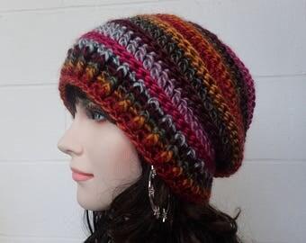 Fashion beanie Womens Slouchy Hat, Crochet Slouchy Hat, Womens Hat, Crochet Hat, Womens Accessories, Fall Fashion, Knit Slouchy Beanie Hat