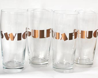 Drink Up Pint Glasses