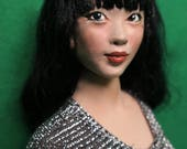 Maylee 9 Head only, OOAK, Adapted to fit Phicen bodies only.