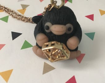 Niffler and Diamond Necklace - Harry Potter - Fantastic Beasts - Ready to Ship