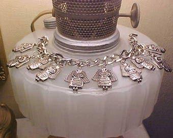 Vintage Religious Charm Bracelet Angels 10 COMMANDMENTS
