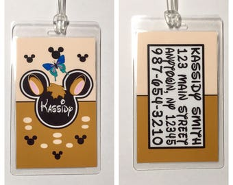 DISNEY Bambi Inspired Personalized Luggage Tag -  Laminated - Made to Order