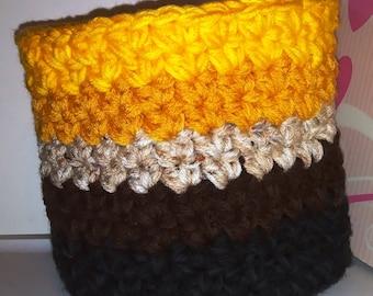 Crochet Basket, Crochet Bowl, Storage, Ombre Basket