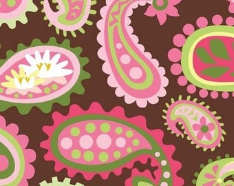 Lily Pond Paisley Pink By Wendy Slotboom for In The Beginning Fabrics.  Cotton Fabric By The Yard