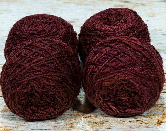 "Wee "" Starlord Red "" -Lleap Handpainted Semisolid Fingering Weight Yarn Mini Skein"