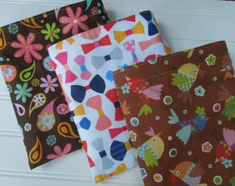 ON SALE * Reusable sandwich and/or snack bags - Reuse sandwich bag - Zero waste lunch bags - lots of girly choices