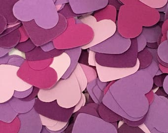 Purple Confetti Hearts weddings showers celebrations