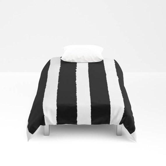 Black and White Stripe Duvet cover -  Duvet cover - Black bedding - Twin XL duvet - queen duvet cover - king duvet cover - full duvet