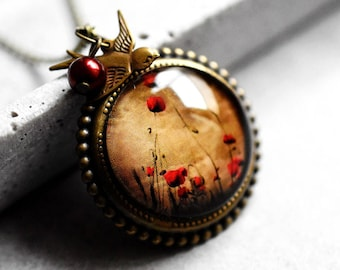 POPPY FIELD Bronze Necklace
