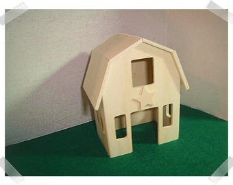 Unfinished Miniature Wooden Barn /Fairy Garden Supplies/Craft Supplies*