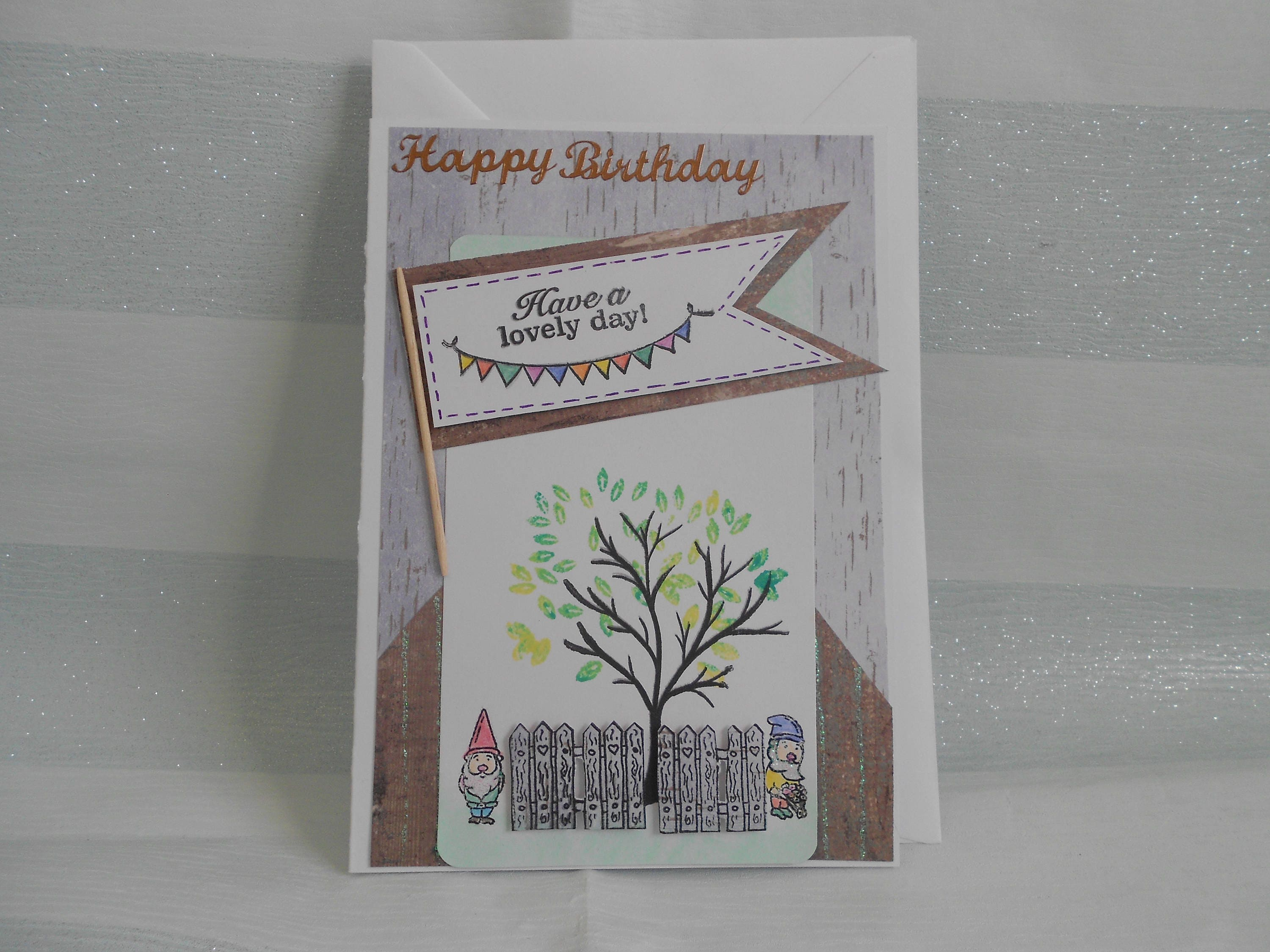 Garden birthday card gnome birthday card happy birthday card garden birthday card gnome birthday card happy birthday card cute birthday card bookmarktalkfo Image collections