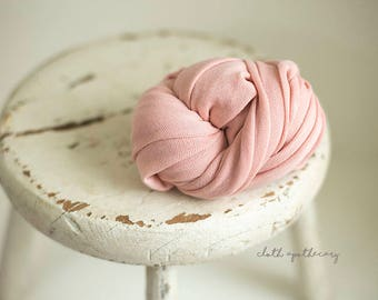 Stretch Knit Wrap - Newborn Wrap - Baby Wrap - Vintage Pink - PLUSH WEAVE Knit Wrap - Photography Prop -