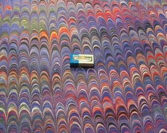"marbled paper, マーブル紙"" cm 50 x 70   papier  marbrè,  ebru - 5973"