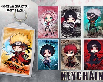 Naruto Keychain Double-Sided Anime Art