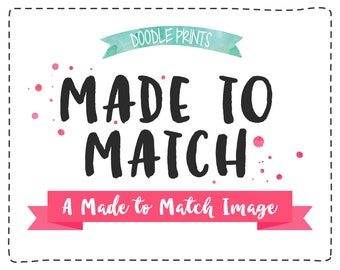 New Made-To-Match Image for any Etsy Premade Design from Doodle Ink Designs / Custom Items such as Business Card, Sticker, Label, ETC