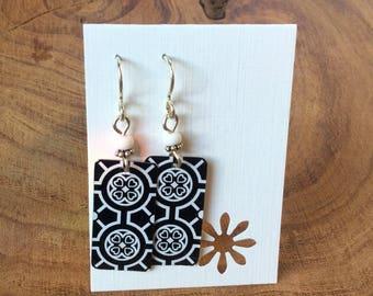 Repurposed Brighton jewelry tin earrings