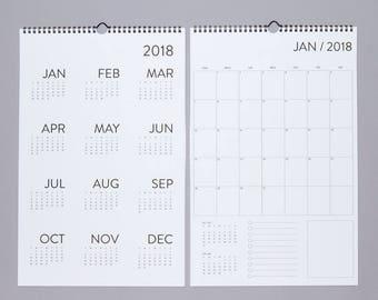 12 Month Wall Calendar 2018