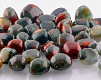 Bloodstone Tumbled Gemstone - Stone for Extreme Focus & Amplification of Life Force