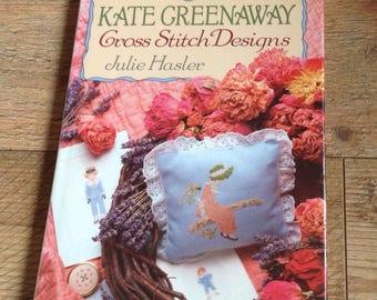 Vintage Kate Greenaway Cross stitch Designs Book, Beautiful Victorian Insoired Cross Stitch Patterns