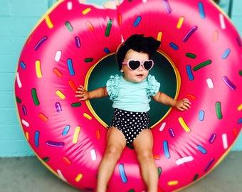 Black and White Polka Dot Bummies kids, toddlers girls