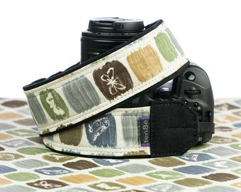 Camera Strap, Natures Sketchbook, Nikon strap, Canon strap, Neck Strap, Padded, Mirrorless, Pocket, Photography, dSLR, SLR, 306