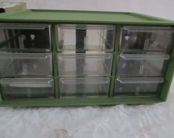 Storage Organizer 9 drawer Olive green New in Box