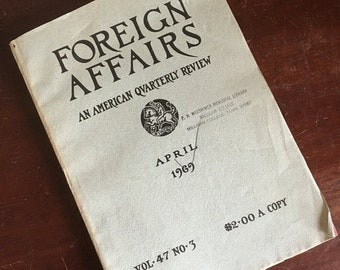 Easter Sale. April 1969 Foreign Affairs Quarterly Review