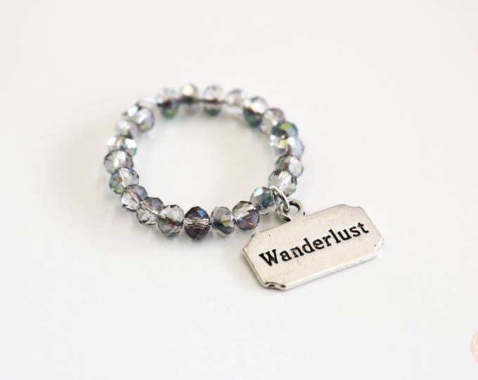 Wanderlust Theme Travel Wineglass Marker/ Wineglass Charm.