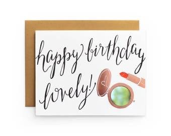 HBD Lovely - letterpress card