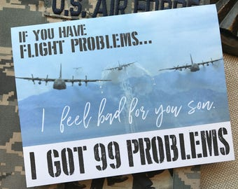 Air Force Card, Basic Training Card, Military Encouragement Card, Beast Week Card, US Air Force, Tech School, 99 Problems, Air Force Mom