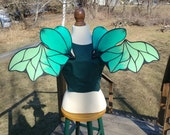 Two Tone Green Dragon Saga Alana Small Six Winged Wingalings Costume Fairy Wings